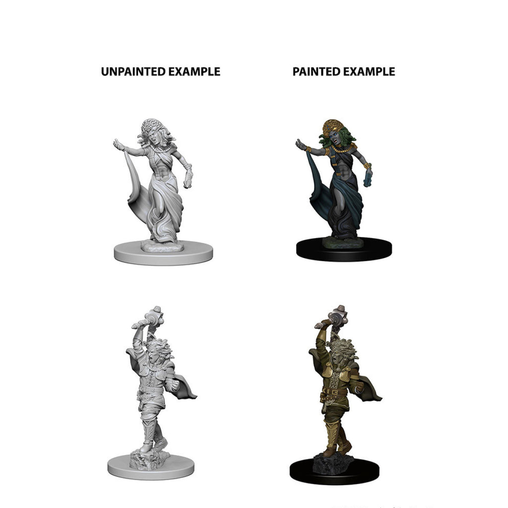 Dungeons And Dragons Unpainted Minis Medusas