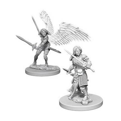 Dungeons And Dragons Unpainted Minis Aasimar Female Paladin