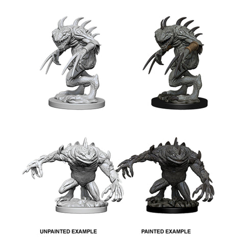 Image of Dungeons And Dragons Unpainted Minis Grey Slaad And Death Slaad