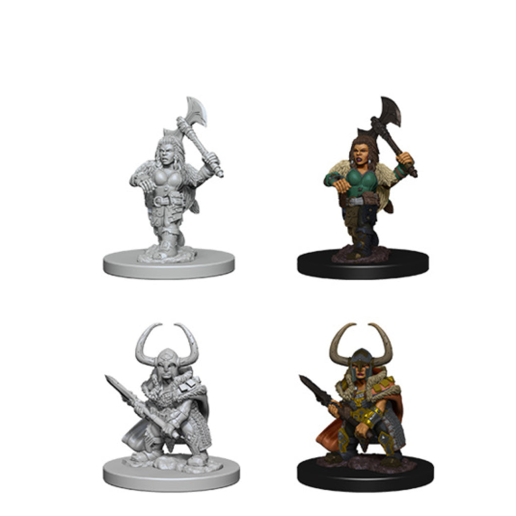 Dungeons And Dragons Unpainted Minis Dwarf Female Barbarian