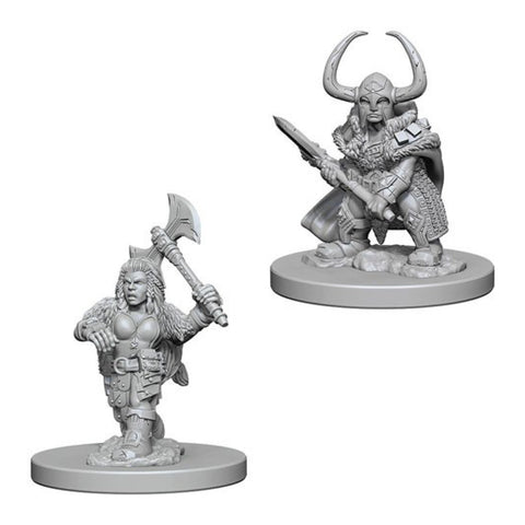 Image of Dungeons And Dragons Unpainted Minis Dwarf Female Barbarian