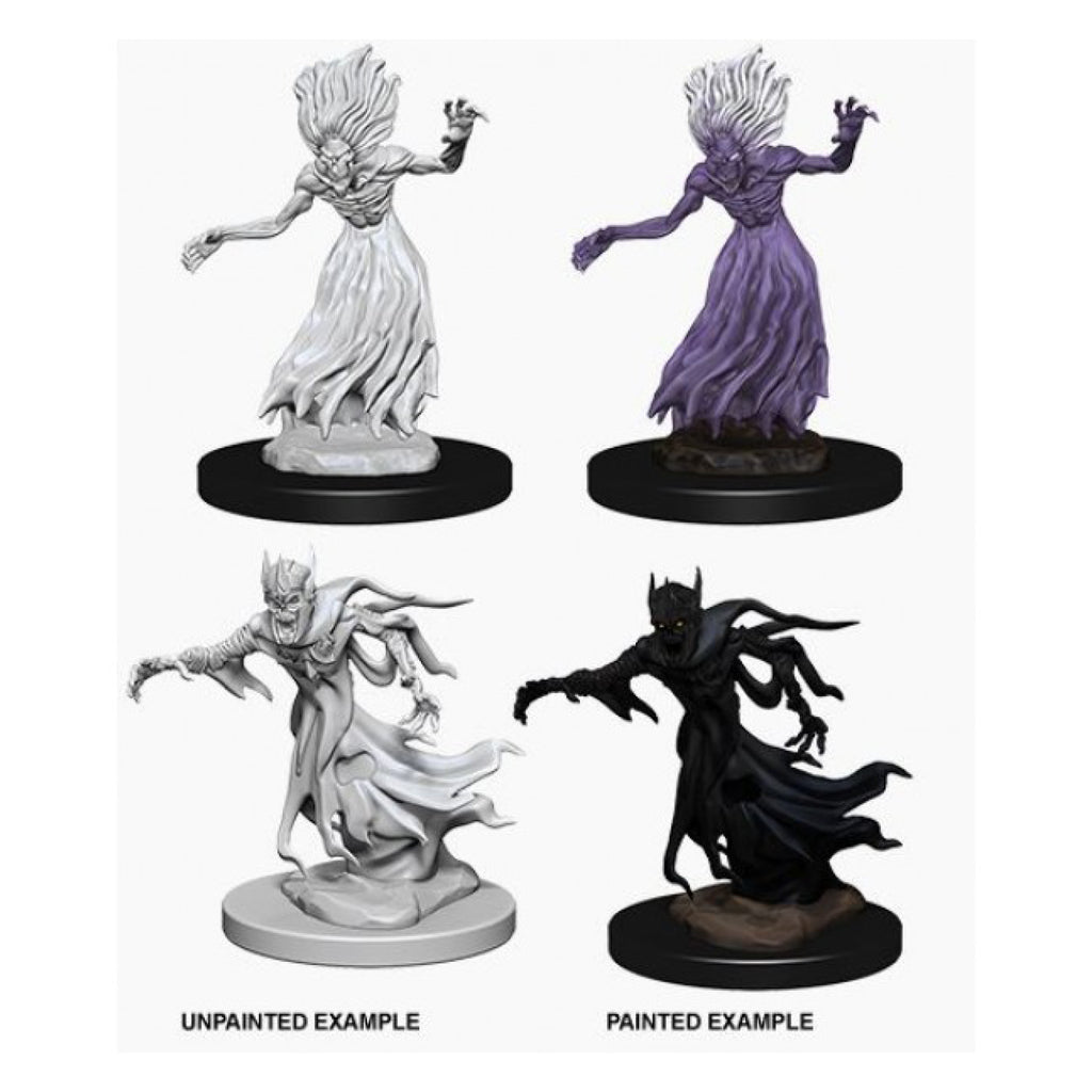 Dungeons And Dragons Unpainted Minis Wraith And Specter