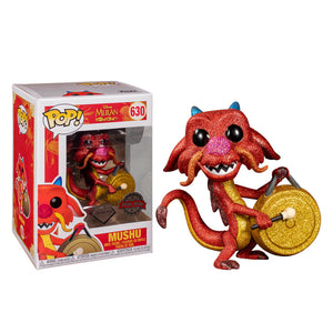 Mulan - Mushu with Gong Diamond Glitter US Exclusive Pop! Vinyl [RS]