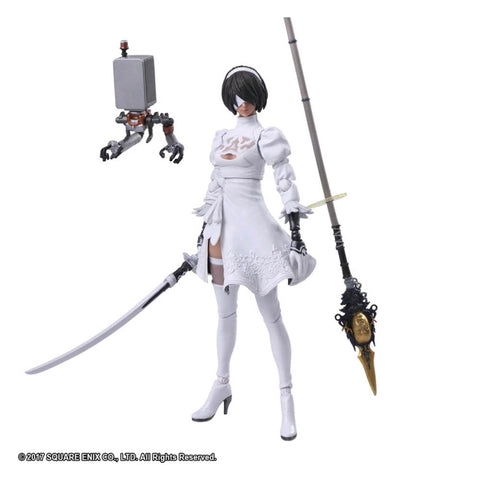 Nier: Automata - YoRHa No2 Type B (Color version) Bring Arts Action Figure