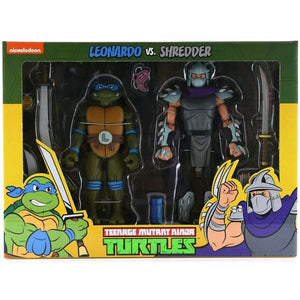 Teenage Mutant Ninja Turtles - Leonardo vs Shredder Action Figure 2-pack