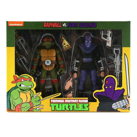 Teenage Mutant Ninja Turtles - Raphael vs Foot Soldier Action Figure 2-pack