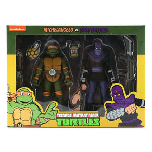 Teenage Mutant Ninja Turtles - Michelangelo vs Foot Soldier Action Figure 2-pack