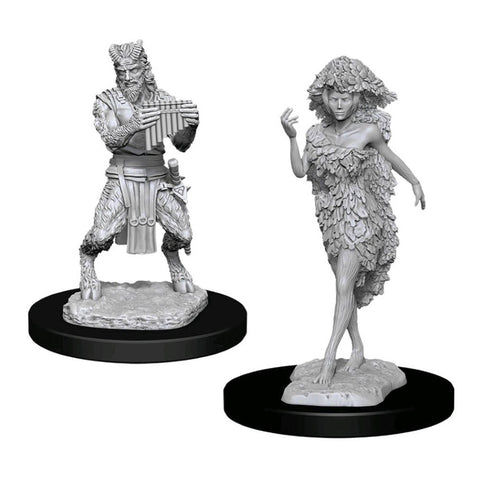 Dungeons & Dragons - Nolzur's Marvelous Unpainted Minis: Satyr & Dryad