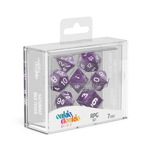 Oakie Doakie Dice RPG Solid Marble Purple
