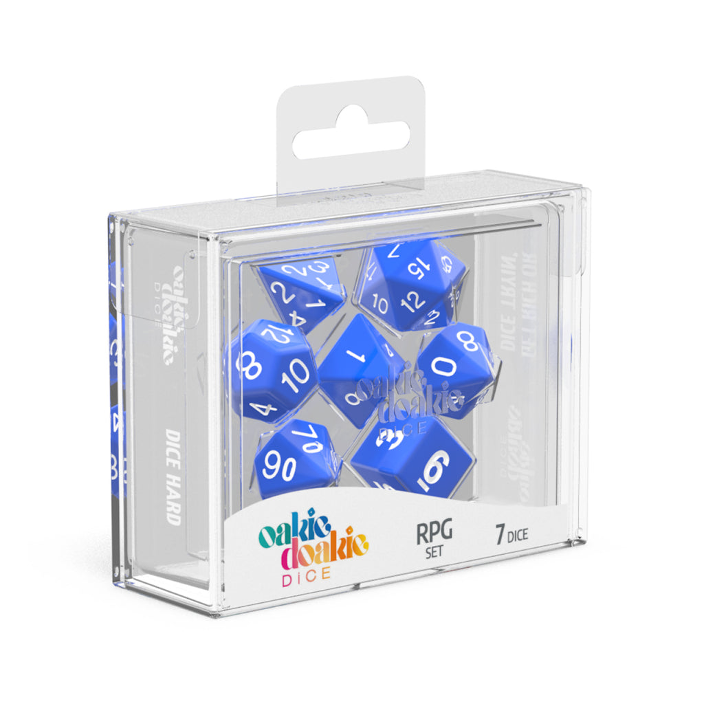 Oakie Doakie Dice RPG Solid Blue