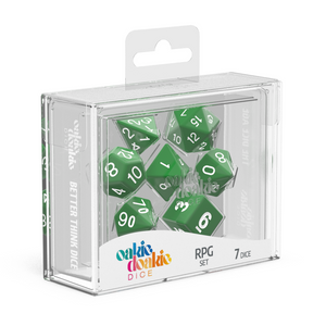 Oakie Doakie Dice RPG Solid Marble Green