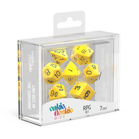 Oakie Doakie Dice RPG Set Solid-Yellow