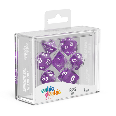 Oakie Doakie Dice RPG Speckled - Purple