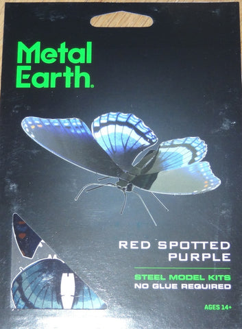 Metal Earth Butterfly Red Spotted