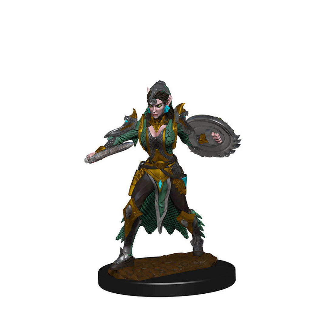 Pathfinder Deep Cuts Unpainted Minis Elf Female Fighter