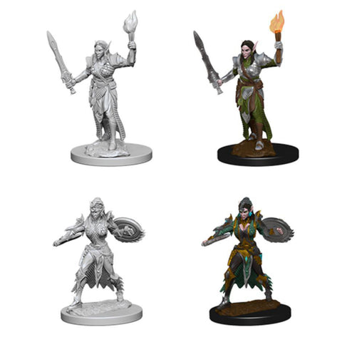 Image of Pathfinder Deep Cuts Unpainted Minis Elf Female Fighter