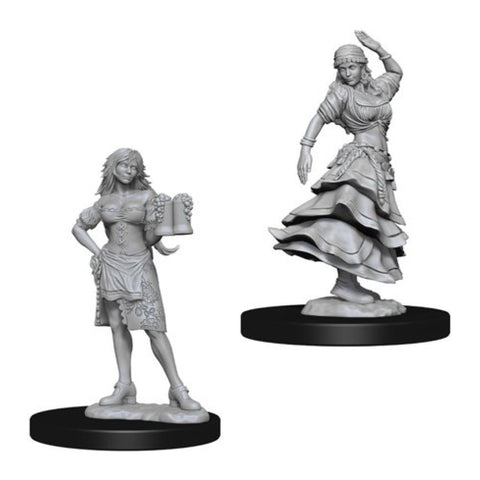 Image of Pathfinder Deep Cuts Unpainted Minis Bartender/Dancing Girl