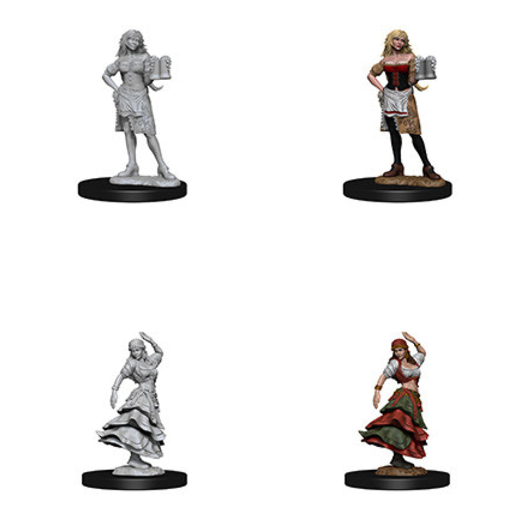 Pathfinder Deep Cuts Unpainted Minis Bartender/Dancing Girl