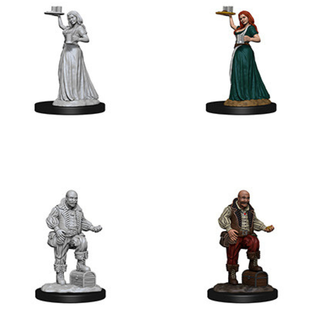 Pathfinder Unpainted Minis Merchants