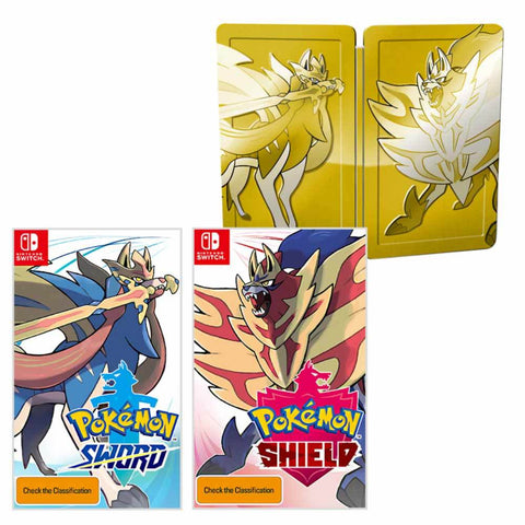 Pokemon Sword & Pokemon Shield Dual Pack - Golden Steelbook