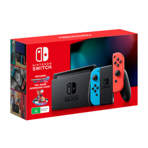 Nintendo Switch Console (Neon Blue/Red Joy-Con) + Mario Kart 8 Deluxe DLC