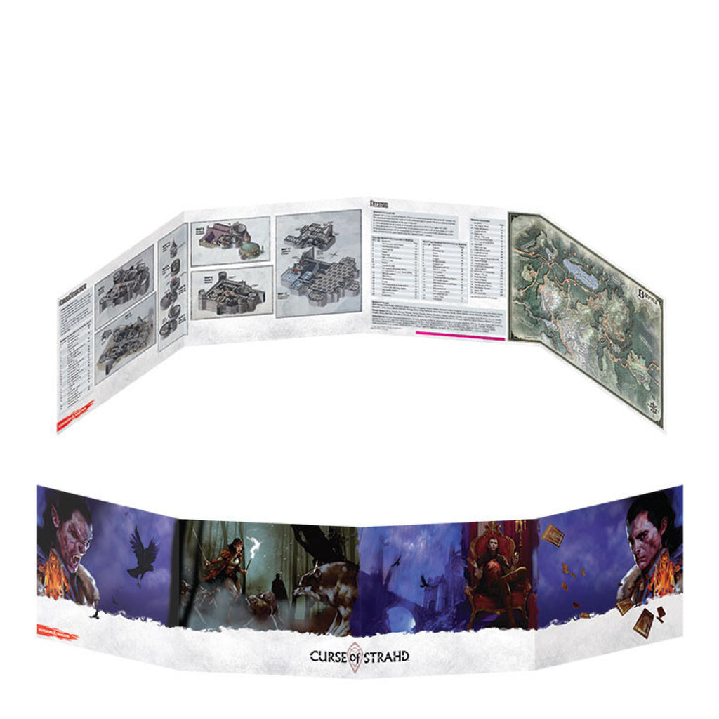 Dungeons And Dragons Dungeon Master Screen Curse Of Strahd