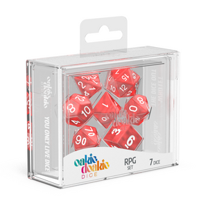 Oakie Doakie Dice RPG Solid Marble Red