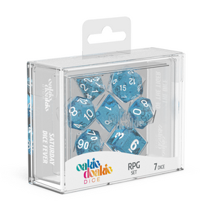 Oakie Doakie Dice RPG Speckled Light Blue