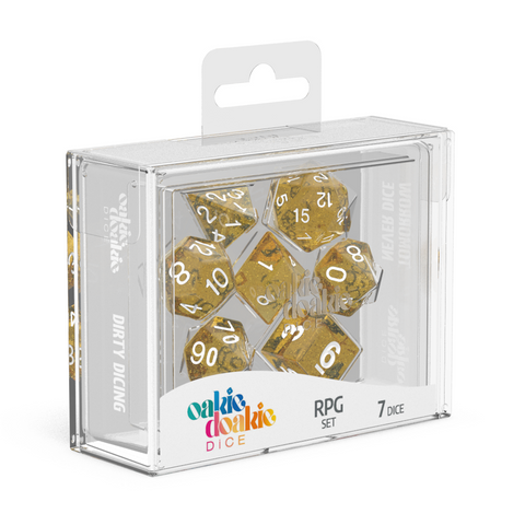Oakie Doakie Dice RPG Speckled Orange