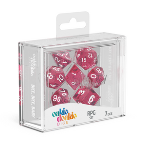 Oakie Doakie Dice RPG Speckled Pink