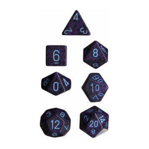 D7-Die Set Dice Speckled Polyhedral Cobalt (7 Dice in Display)