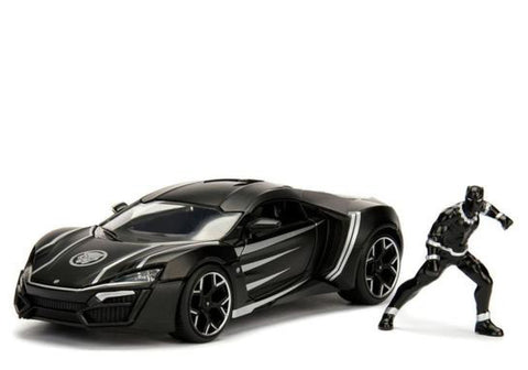 Image of 1:24 Black Panther w/Lykan HYper Sport Movie Hollywood Rides