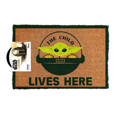 Star Wars: The Mandalorian- The Child Lives Here Doormat