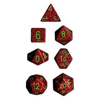 Speckled Strawberry 7 Die Dice