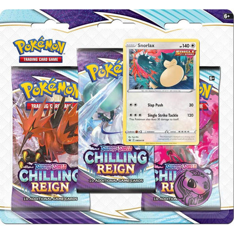 POKÉMON TCG Sword and Shield - Chilling Reign Three Booster Blister