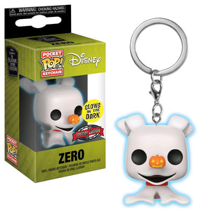 The Nightmare Before Christmas - Zero Glow Pocket Pop! Keychain