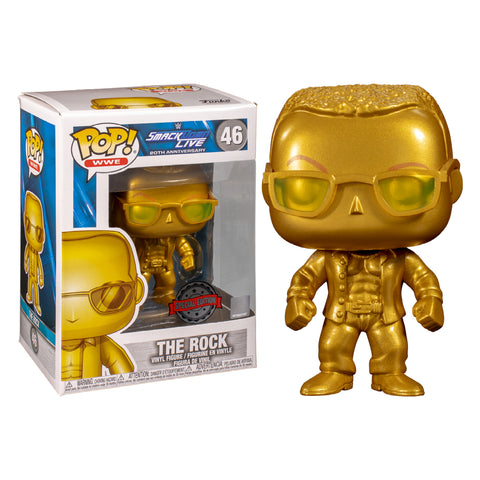 Image of Smack Down Live - 20th Anniversary The Rock Gold Pop! Vinyl