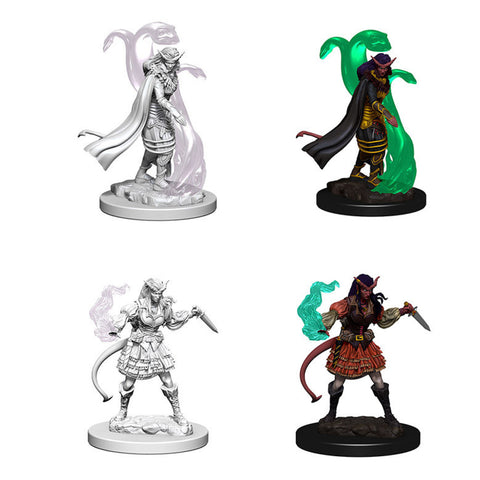 Image of Dungeons And Dragons Unpainted Minis Tiefling Female Sorcerer