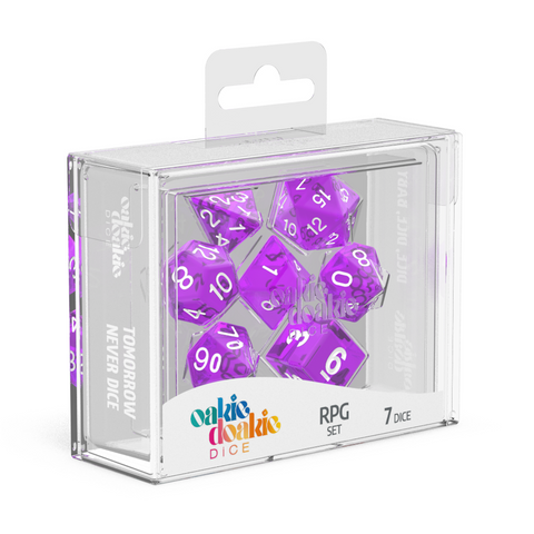 Oakie Doakie Dice RPG Translucent Purple
