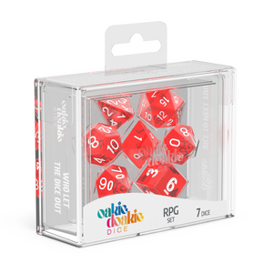 Oakie Doakie Dice RPG Translucent Red