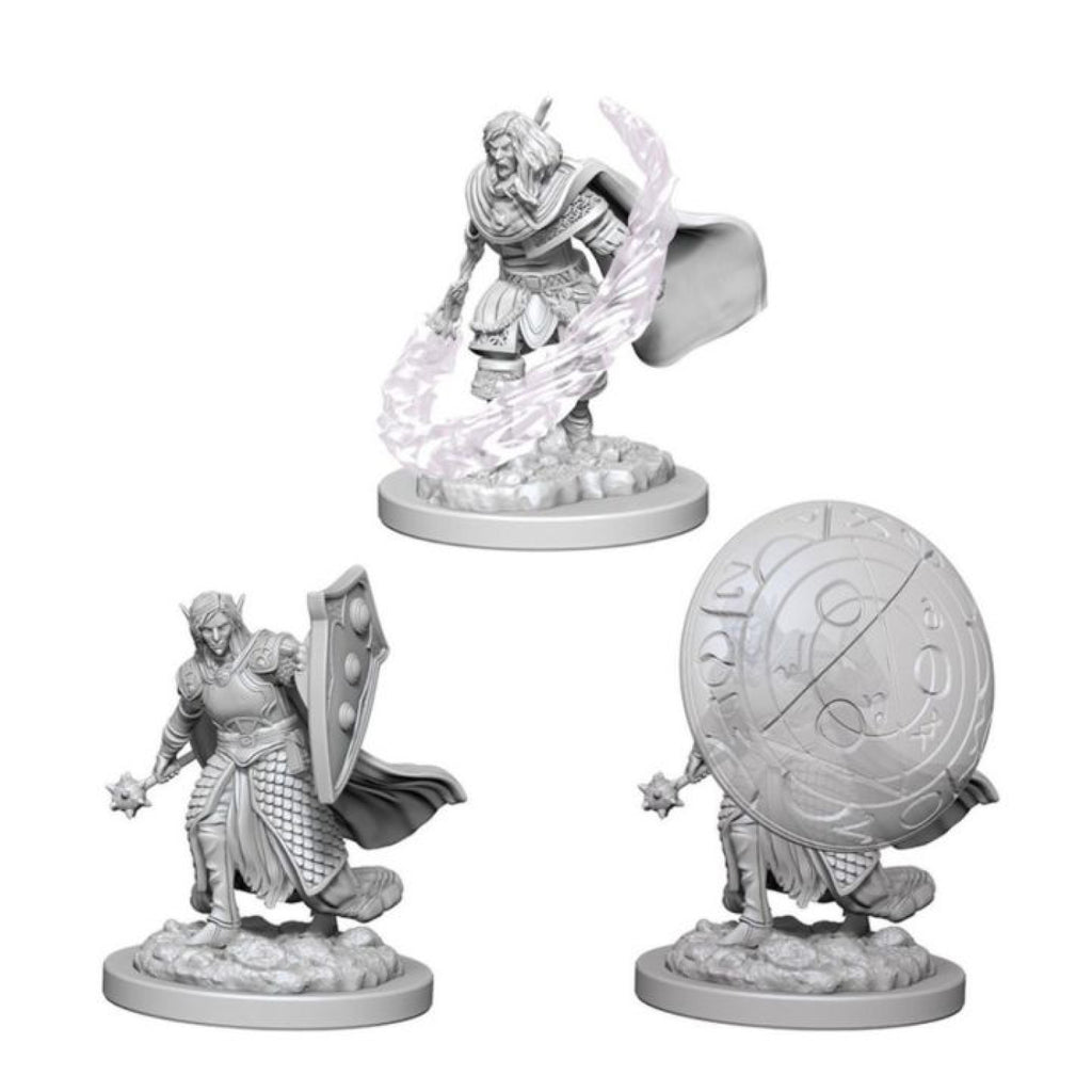 Dungeons And Dragons Unpainted Minis Elf Male Cleric