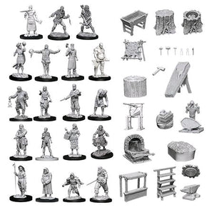 Wizkids - Unpainted Townspeople & Accessories