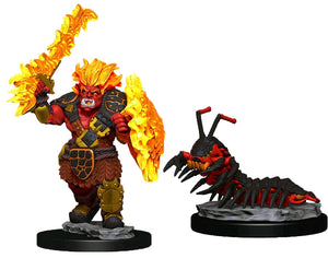 Wardlings - Fire Orc & Centipede Pre-Painted Mini
