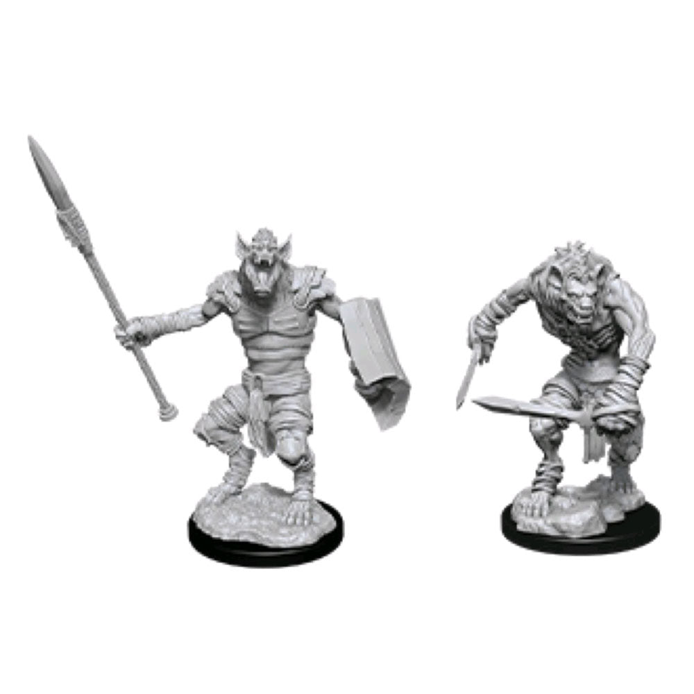 Dungeons & Dragons -Unpainted Gnoll & Gnoll Flesh Gnawer