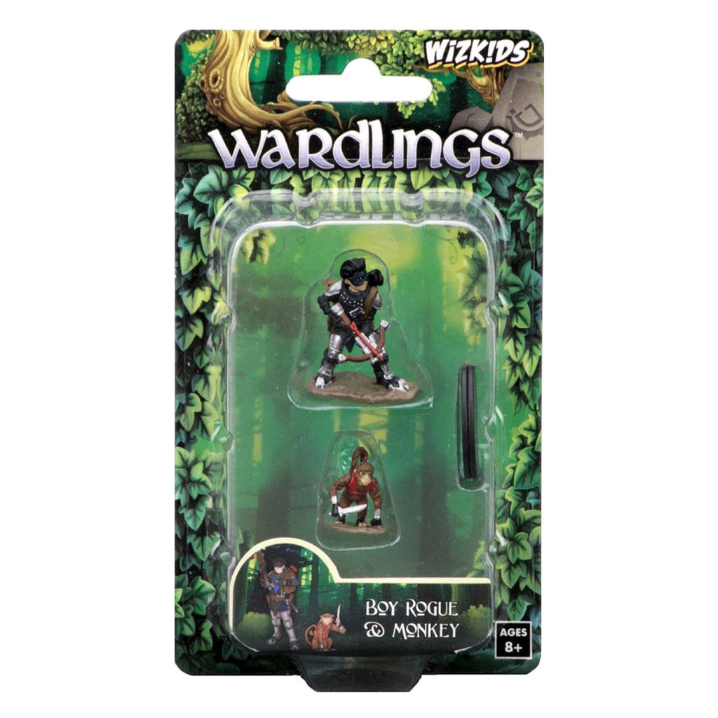Wardlings - Boy Rogue & Monkey Pre-Painted Minis