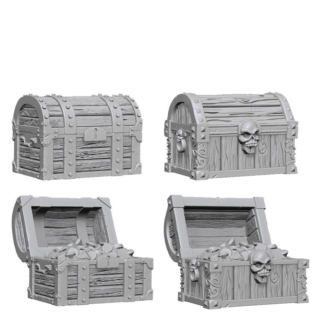 Dungeons And Dragons Unpainted Minis Chests