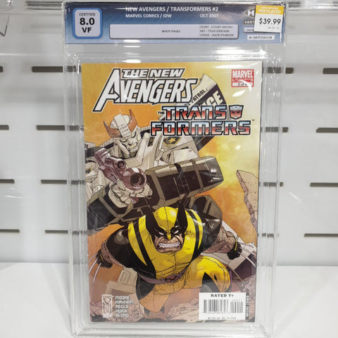 The New Avengers / Transformers #2 Graded 8.0