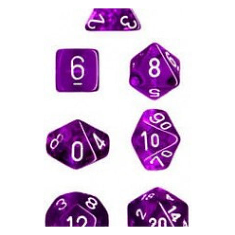 Translucent Purple/white 7-Die Set