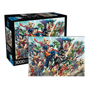 Aquarius Puzzle DC Comics Cast Puzzle 3,000 pieces