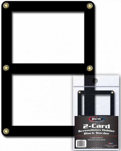 BCW Screwdown Holder Double Card Black Border